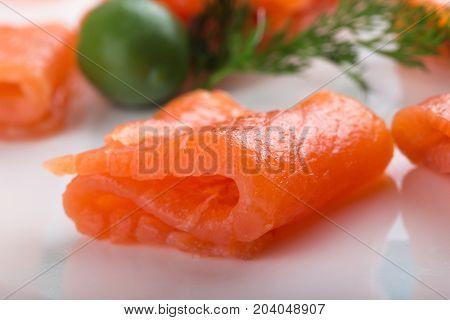 Raw fillet slice salmon healthy food sea food eating healthy