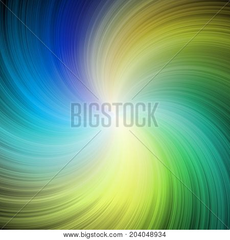 Blue green multi colored radial twirl rays vortex imagination