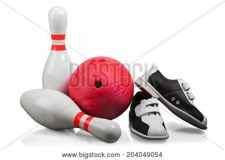 Ball shoes bowling close up leisure games bowling pins sports equipment