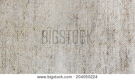 Texture of burlap jute fiber, close up