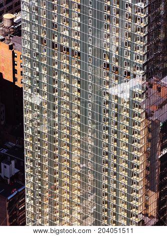 Glass Facade Of A Skyscraper In New York City