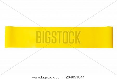 Close-up Isolated Yellow Sport Strap For Stretching