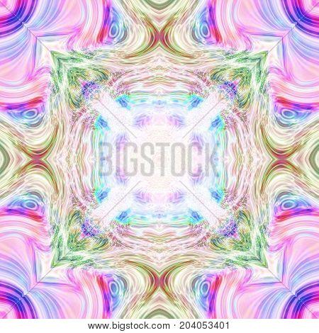 Kaleidoscope astral fantasy mandala mirror image pattern