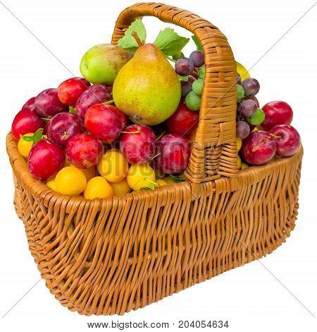 Fruit healthy red pear fresh cherry plum food plums sweet eat.