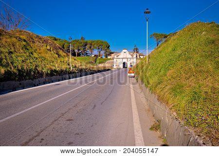 Palmanova Historic Town Gate On Defense Walls System