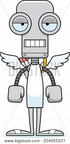 Cartoon Bored Cupid Robot