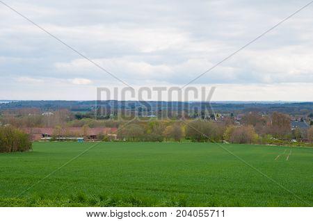 Landscape Near Faxe In Denmark