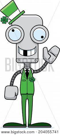 Cartoon Silly Irish Robot