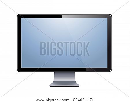 lcd tv monitor isolated on the white
