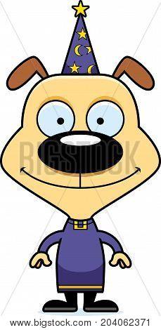 Cartoon Smiling Wizard Puppy