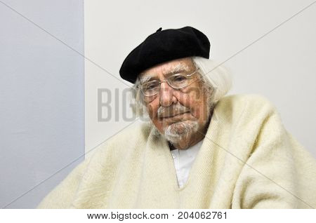 GERMANY - MARCH 5, 2015: Ernesto Cardenal, Nicaraguan Catholic priest, poet and politician, visit Magdeburg.