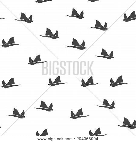 Stingray seamless pattern. Vector illustration for backgrounds
