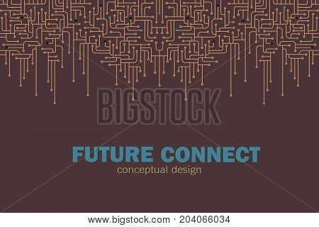 Electronic circuit background. Circuit lines design. Future concept vector illustration