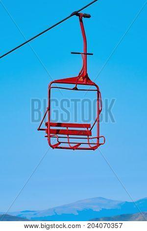 Chairlift in Bucegi Mountain (Carpathian Mountains) Sinaia Romania poster