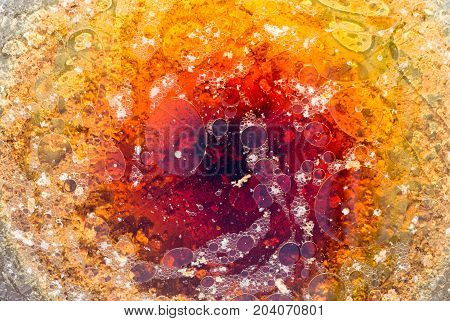Abstract Buble Circle Color From Oil And Water