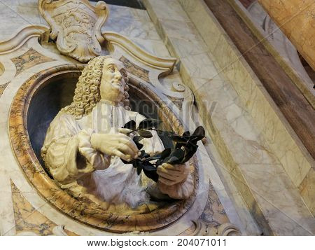 Bishop With Laurel Crown In Siena Cathedral