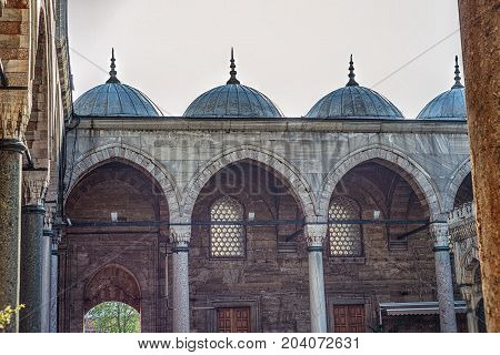 The Yeni Mosque New Mosque or Mosque of the Valide Sultan Istanbul Turkey
