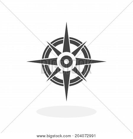 Compass icon isolated on white background. Compass vector logo. Flat design style. Modern vector pictogram for web graphics - stock vector