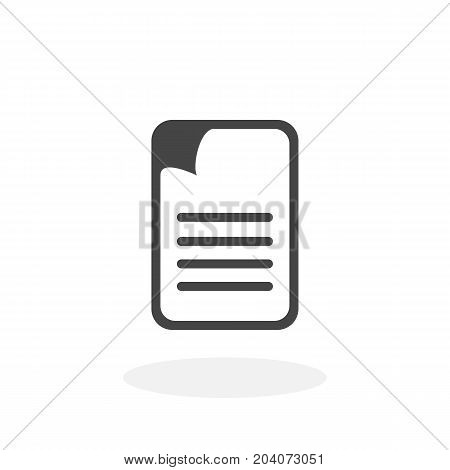 Document icon isolated on white background. Document vector logo. Flat design style. Modern vector pictogram for web graphics - stock vector