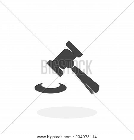 Judge gavel icon isolated on white background. Judge gavel vector logo. Flat design style. Modern vector pictogram for web graphics - stock vector