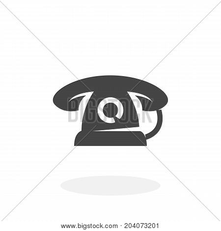Phone icon isolated on white background. Phone vector logo. Flat design style. Modern vector pictogram for web graphics - stock vector