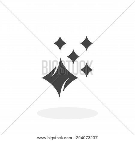 Shine icon isolated on white background. Shine vector logo. Flat design style. Modern vector pictogram for web graphics - stock vector