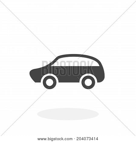Car icon isolated on white background. Car vector logo. Flat design style. Modern vector pictogram for web graphics - stock vector