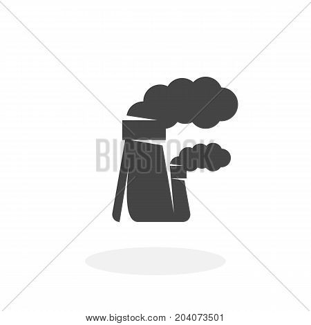 Factory icon isolated on white background. Industry vector logo. Flat design style. Modern vector pictogram for web graphics - stock vector