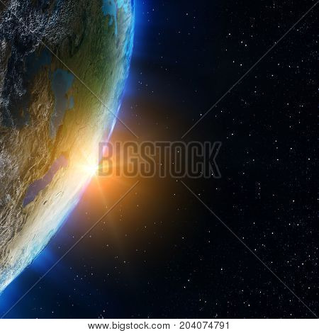 Planet ecology. Elements of this image furnished by NASA 3d rendering