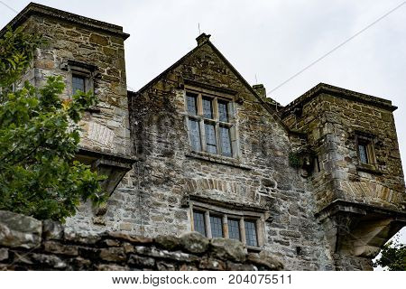 DONEGAL, IRELAND - AUGUST 25, 2017: View of Donegal Castle in Donegal town Ireland