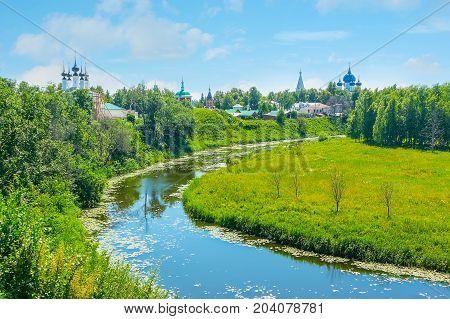 The Bends Of Kamenka River In Suzdal