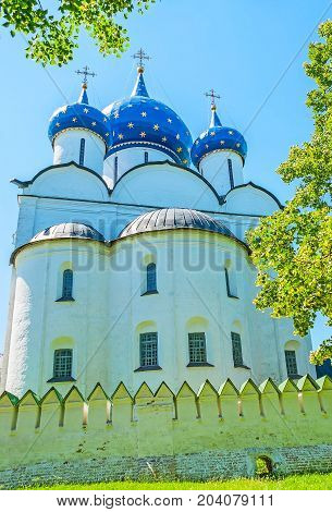The Apse Of Nativity Cathedral In Suzdal