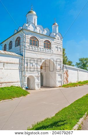 The Main Gate Of Intercession Monastery In Suzdal