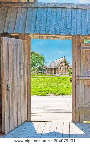 Through The Wooden Gate Of Suzdal House
