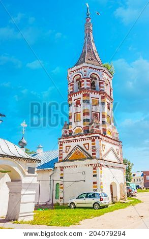 The Colored Belfry Of St Antipius Church In Suzdal