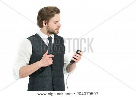Guy Listen To Music.