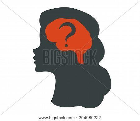 Human brain isolated illustration. Human brain Icon