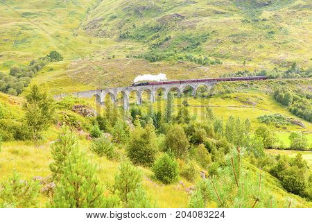 Glenfinnan - August 2014 : Glenfinnan attracts many thousands of visitors. This is a location of Herry Potter film