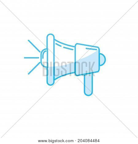silhouette megaphone tool to speaker communication message vector illustration