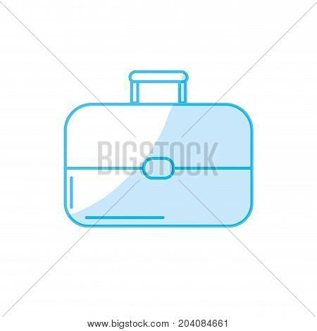 silhouette business suitcase to save important document vector illustration