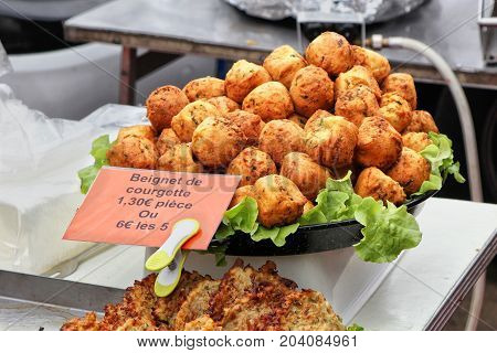 A French Market Stall Selling