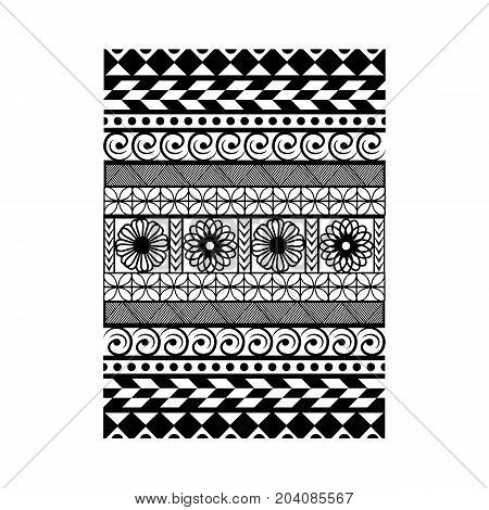 Geometric ethnic and tribal pattern embroidery design for background or wallpaper and clothing.