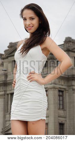 Professional Minority Person Wearing A White Dress