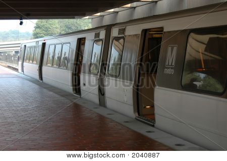 Metro Station In Arlington Virginia