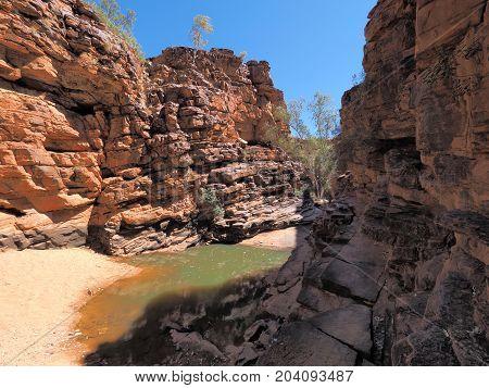 John Hayes rockhole near Trephina Gorge east MacDonnell ranges near Alice Springs Northern Territory Australia 2017
