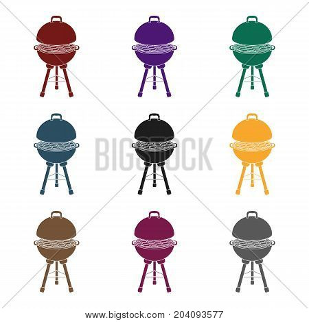 Grill for barbecue.BBQ single icon in black style vector symbol stock illustration .