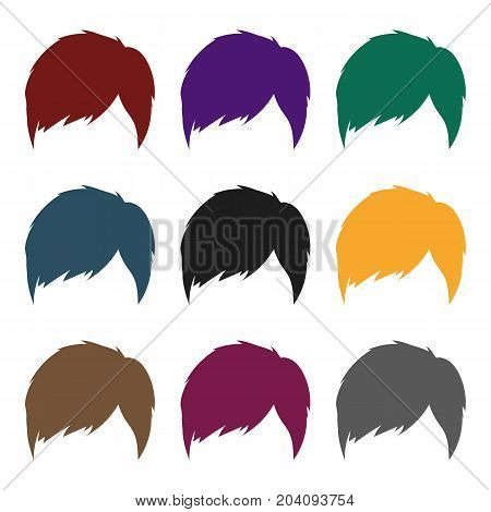 Man's hairstyle icon in black style isolated on white background. Beard symbol vector illustration.