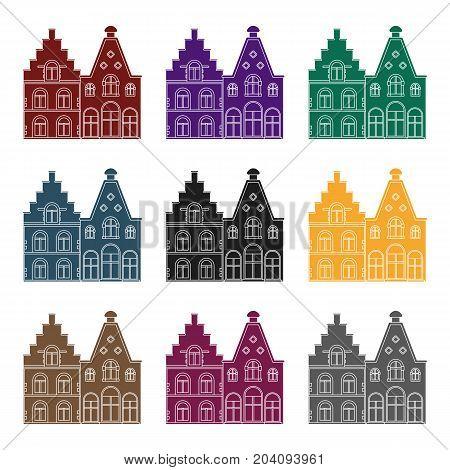 Housing in Belgium.The dark Belgian wolf. Belgium single icon in black style vector symbol stock  illustration.