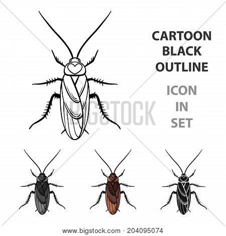 Cockroach icon in cartoon design isolated on white background. Insects symbol stock vector illustration.