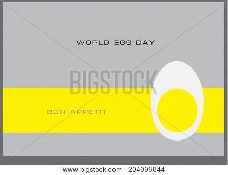 Postcard to World Egg Day Bon Appetit